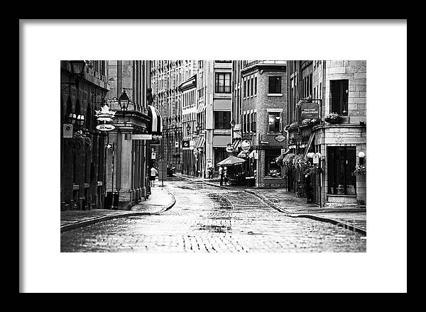 Streets Of Montreal Framed Print featuring the photograph Streets Of Montreal by John Rizzuto