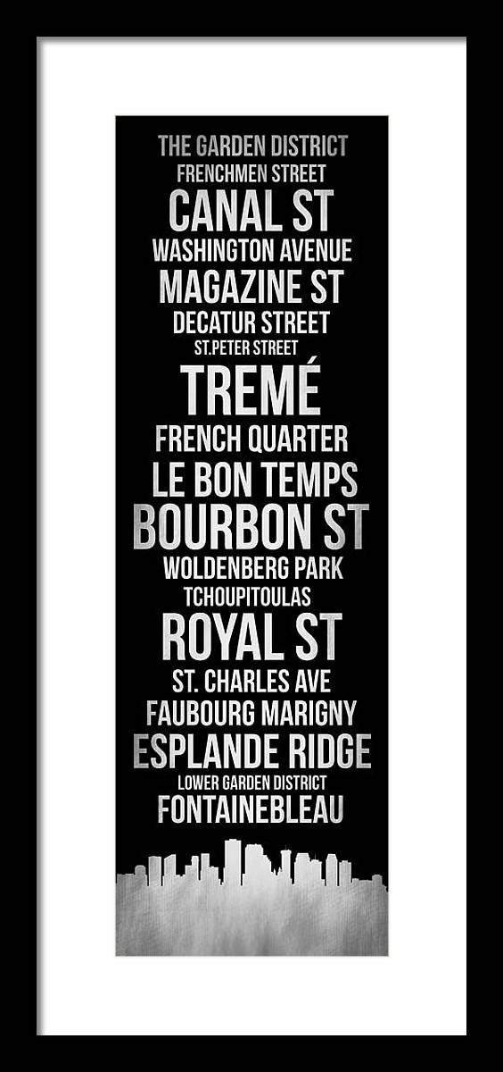 New Orleans Framed Print featuring the digital art Streets Of New Orleans 2 by Naxart Studio