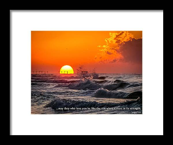 Hurricane Ivan Framed Print featuring the photograph Strength by CarolLMiller Photography