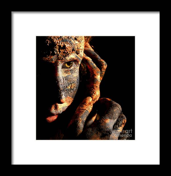 Portrait Framed Print featuring the photograph Strength Of Character by Richard Mason