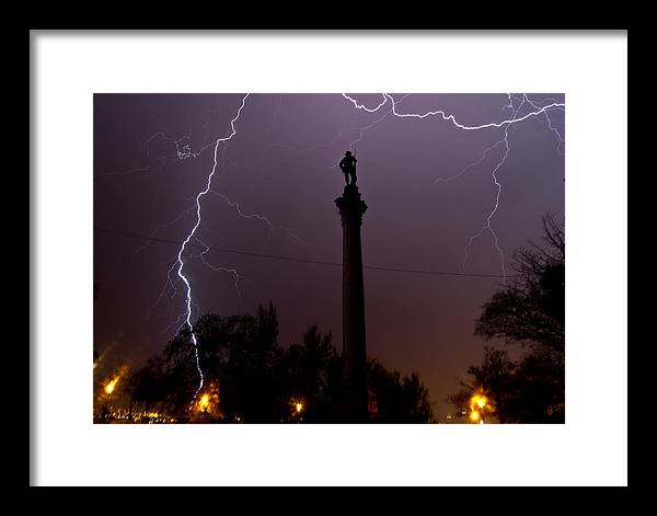 Lightning Framed Print featuring the photograph Strike 3 by David Parrish