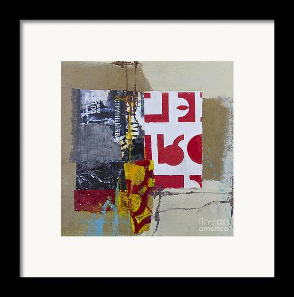 Collage Framed Print featuring the mixed media String Quartet by Elena Nosyreva