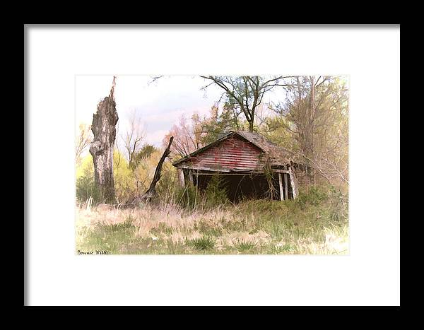 Shed Framed Print featuring the photograph Strong Enough by Bonnie Willis