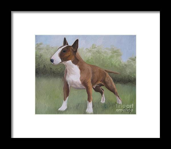 Noewi Framed Print featuring the painting Strong by Jindra Noewi