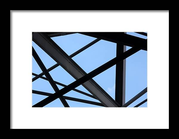 Beams Framed Print featuring the photograph Structure by Joe Kozlowski
