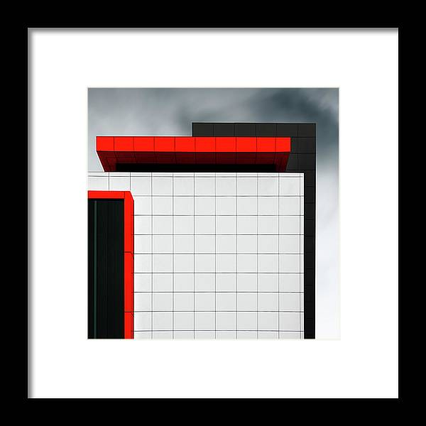 Architecture Framed Print featuring the photograph Structure Wal by Gilbert Claes