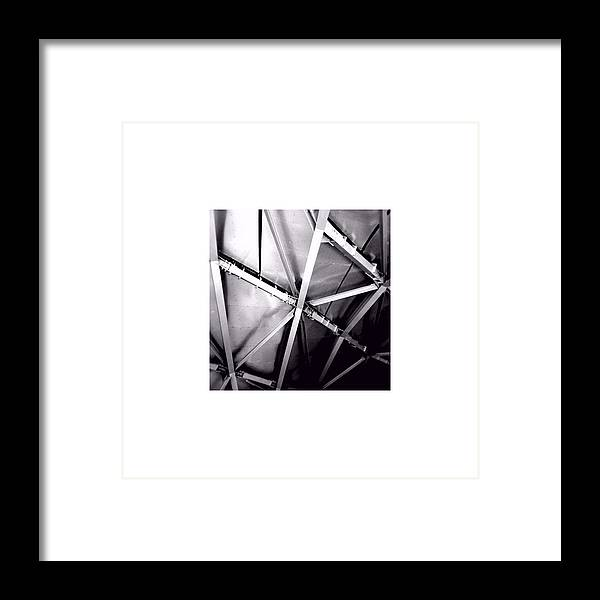 Steel Framed Print featuring the photograph Structure_09.09.12 by Paul Hasara