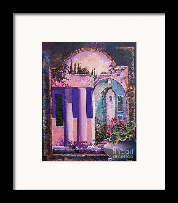 Still Life Framed Print featuring the painting Structures With Emotional Dimensions by Sinisa Saratlic