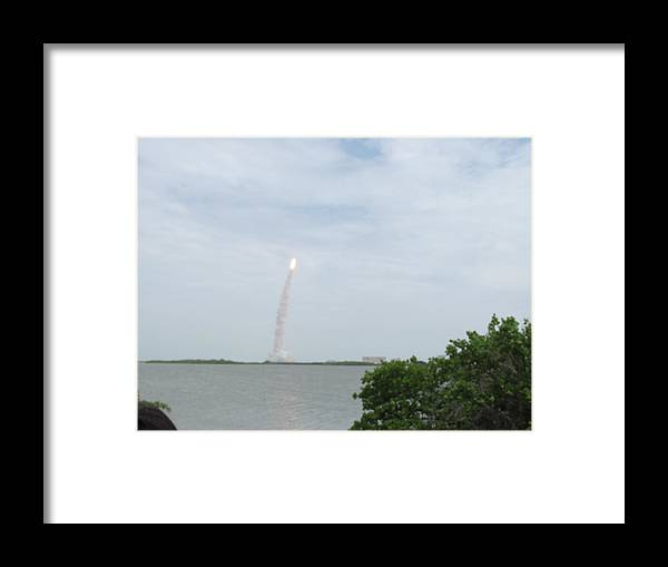 Sts-135 Framed Print featuring the photograph Sts-135 Liftoff 1 by Michael Knight