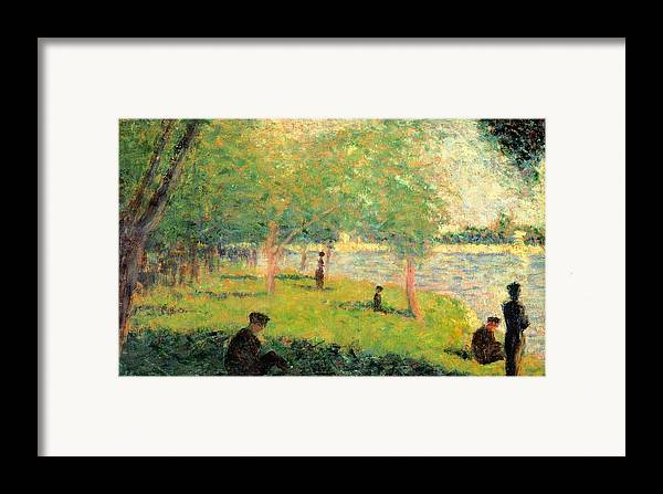 Art Framed Print featuring the painting Study On La Grande Jatte by Georges Seurat