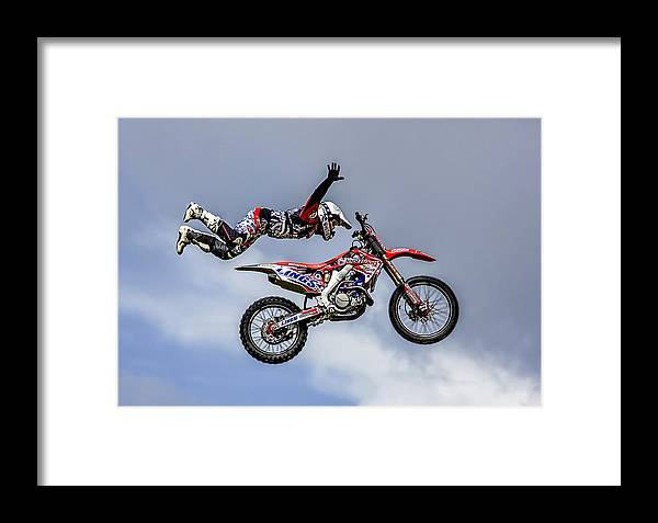 Motocross Framed Print featuring the photograph Stunt Rider by Sam Smith Photography