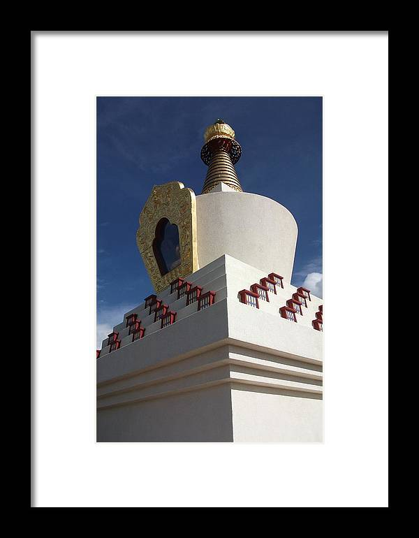 Stupa Framed Print featuring the photograph Stupa by Debbie Westermeyer