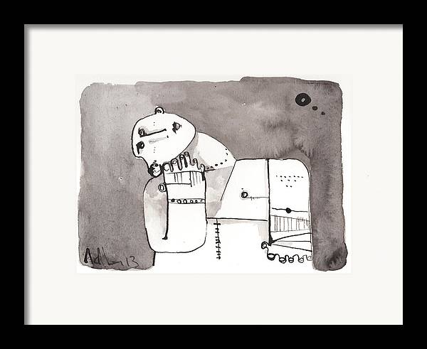 Ink Framed Print featuring the drawing Sub Lunam No. 4 by Mark M Mellon