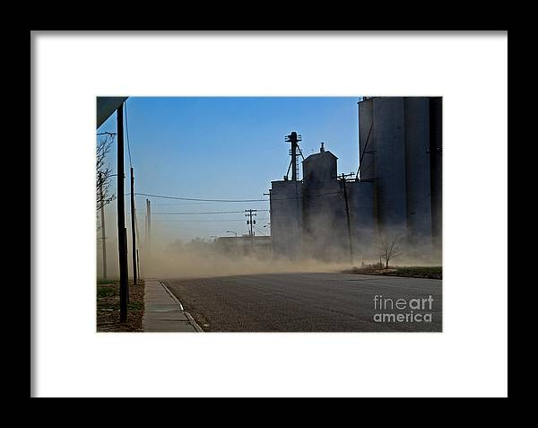 Kansas Framed Print featuring the photograph Sublette Dust Storm by Fred Lassmann