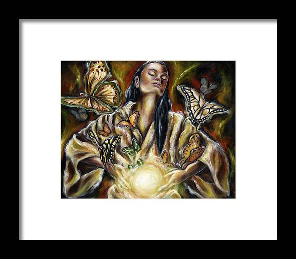 Asian Woman Framed Print featuring the painting Sublimation by Hiroko Sakai