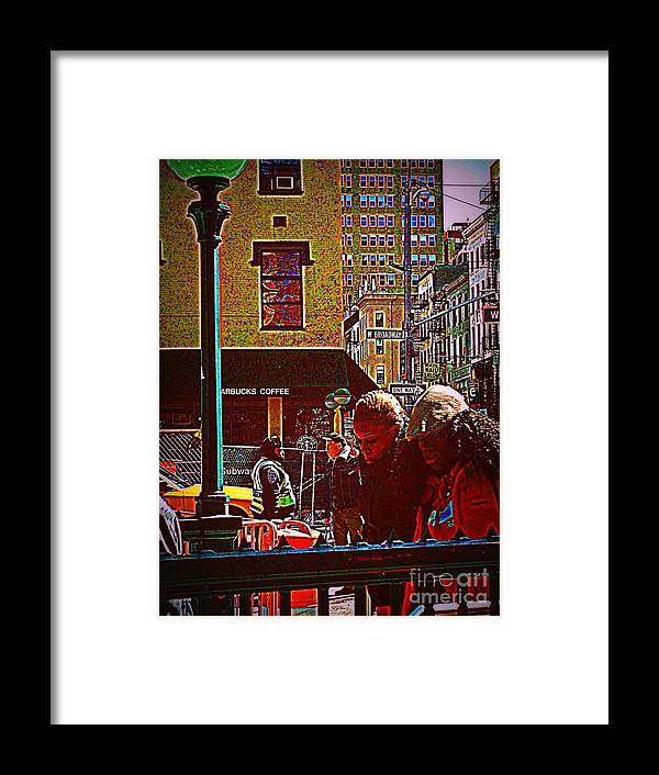 Girl Framed Print featuring the photograph Subway - Late Afternoon Rush On A Cold Day by Miriam Danar