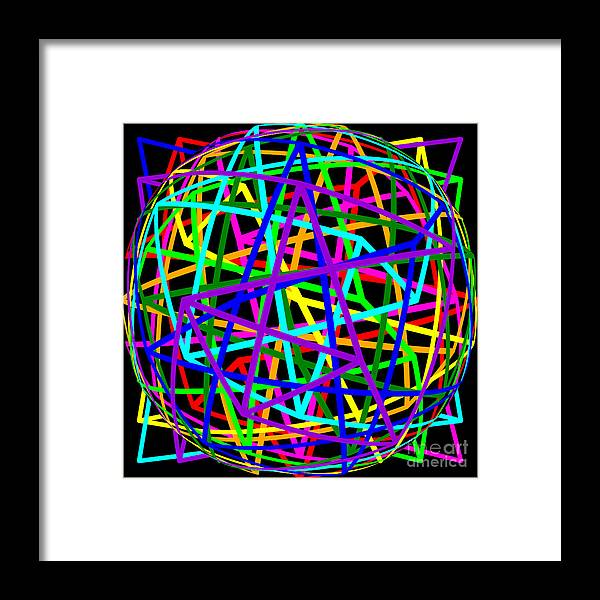Sudoku Framed Print featuring the digital art Sudoku Connections Spherize by Ron Brown