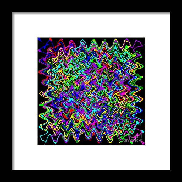 Sudoku Framed Print featuring the digital art Sudoku Connections Wave by Ron Brown