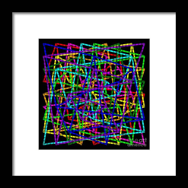 Sudoku Framed Print featuring the digital art Sudoku Connections Weave by Ron Brown