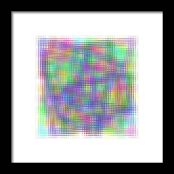 Sudoku Framed Print featuring the digital art Sudoku Connections White Glass Mosaic by Ron Brown