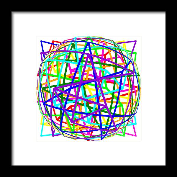 Sudoku Framed Print featuring the digital art Sudoku Connections White Spherize by Ron Brown