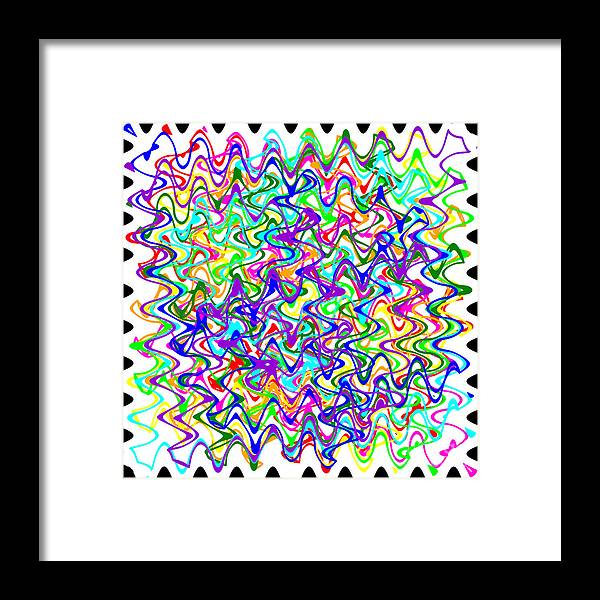 Sudoku Framed Print featuring the digital art Sudoku Connections White Wave by Ron Brown