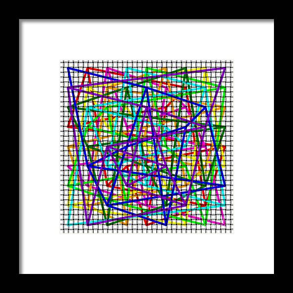 Sudoku Framed Print featuring the digital art Sudoku Connections White Weave by Ron Brown