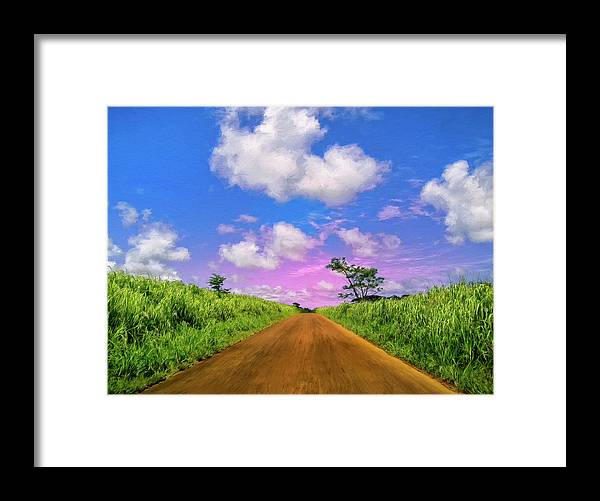 Sugar Cane Sunrise Framed Print featuring the painting Sugar Cane Sunrise by Dominic Piperata