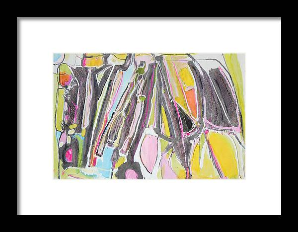 Mixed Media Painting Framed Print featuring the painting Suits Coats And Ties Hangin In The Closet by Hari Thomas