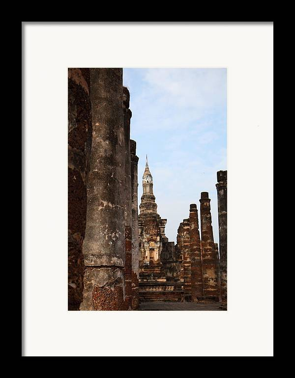 Sukhothai Framed Print featuring the photograph Sukhothai Historical Park - Sukhothai Thailand - 011320 by DC Photographer