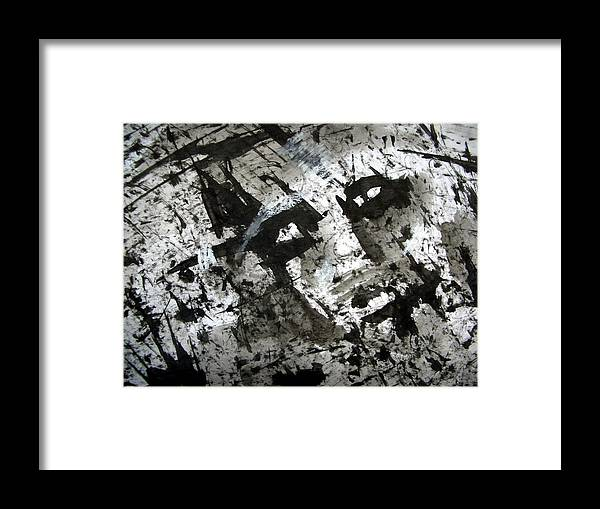 Sumi Framed Print featuring the drawing Sumi-e 130425-1 by Aquira Kusume