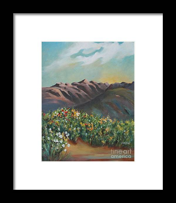 Landscape Framed Print featuring the painting Summer At Kananaskis by Marta Styk