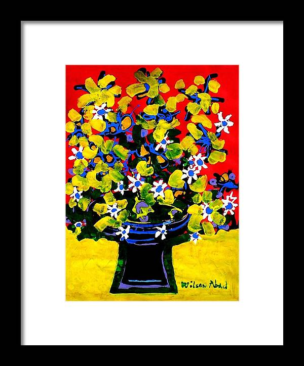 Summer Framed Print featuring the painting Summer Bouquet by Wilson Abad