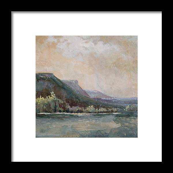 Mountains Framed Print featuring the painting Summer Buttes by Ruth Stromswold