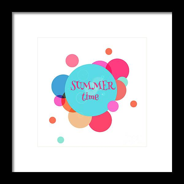 Rest Framed Print featuring the digital art Summer Colorful Background With Text - by Vector art