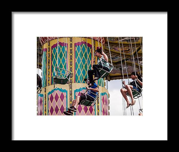 Thrilling Ride Framed Print featuring the photograph Summer Fair-10 by David Fabian