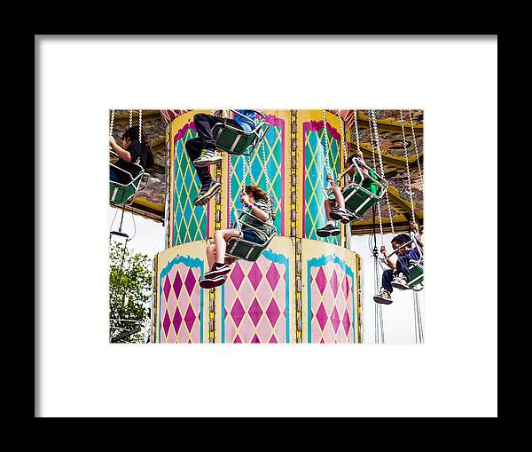 Round And Round Framed Print featuring the photograph Summer Fair-11 by David Fabian
