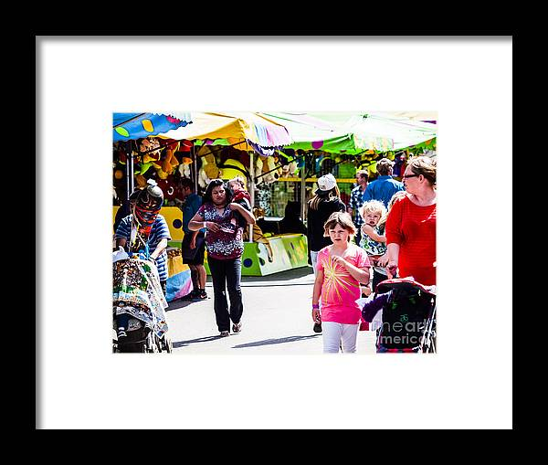 On The Midway Framed Print featuring the photograph Summer Fair-12 by David Fabian