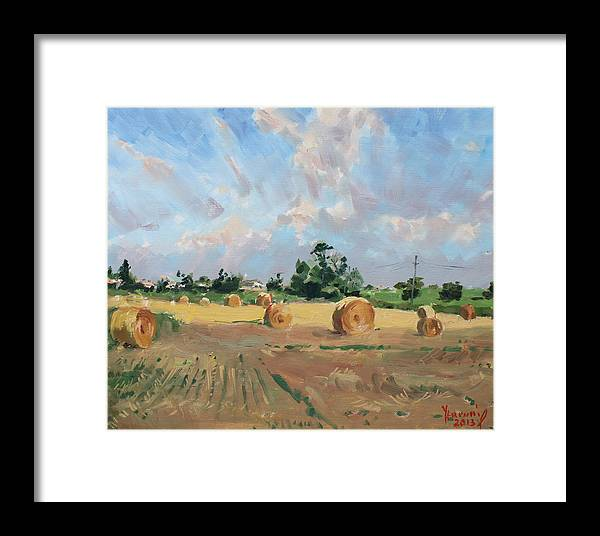 Summer Framed Print featuring the painting Summer Fields In Georgetown On by Ylli Haruni