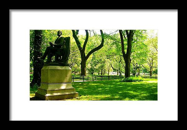 Central Park Prints Framed Print featuring the photograph Summer In Central Park Manhattan by Monique's Fine Art