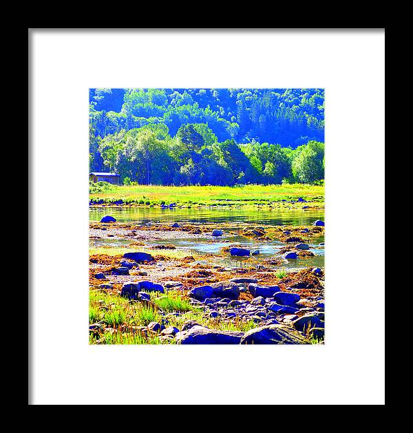 Landscape Framed Print featuring the photograph I Try To Keep The Summer Always In My Mind by Hilde Widerberg