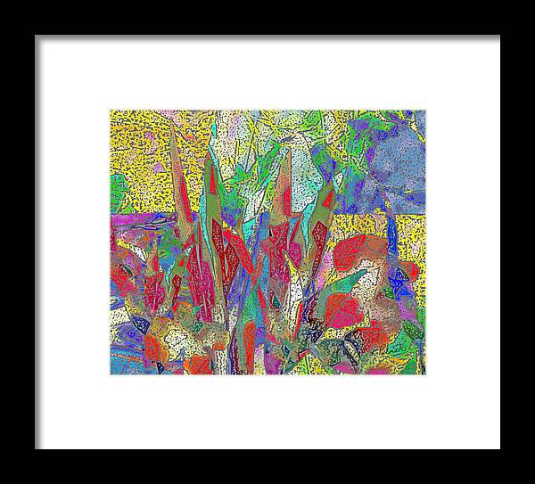 Abstract Framed Print featuring the digital art Summer In The Meadow by Ruth Palmer