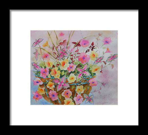 Flowers Framed Print featuring the painting Summer Joy by Amy Householder