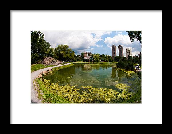 Nyc Framed Print featuring the photograph Summer Lake by Vitaly Levin