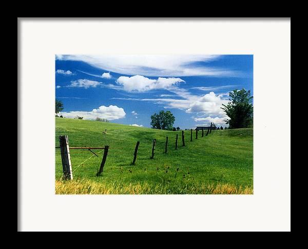Summer Landscape Framed Print featuring the photograph Summer Landscape by Steve Karol