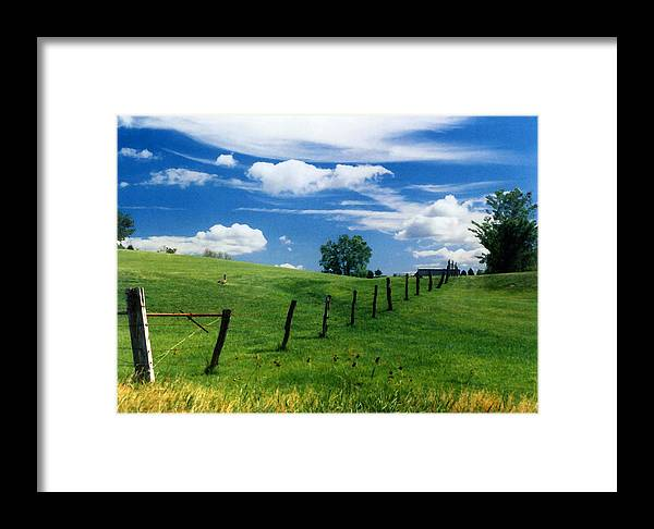Summer Landscape Framed Print featuring the photograph Summer Landscape by Steve Karol