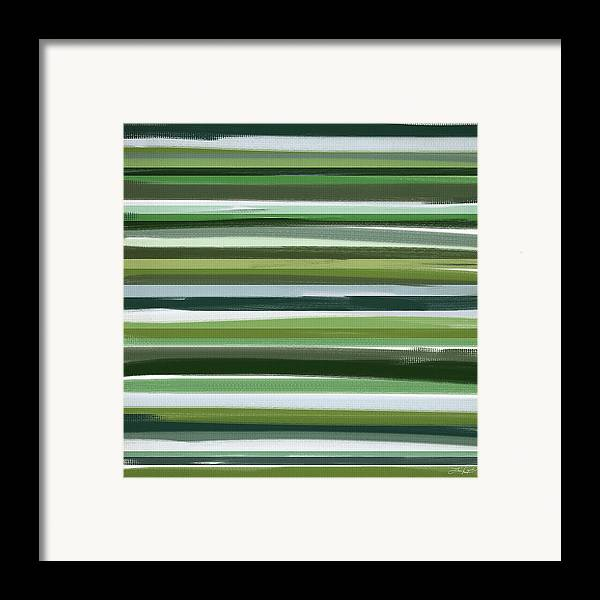 Green Framed Print featuring the painting Summer Of Green by Lourry Legarde