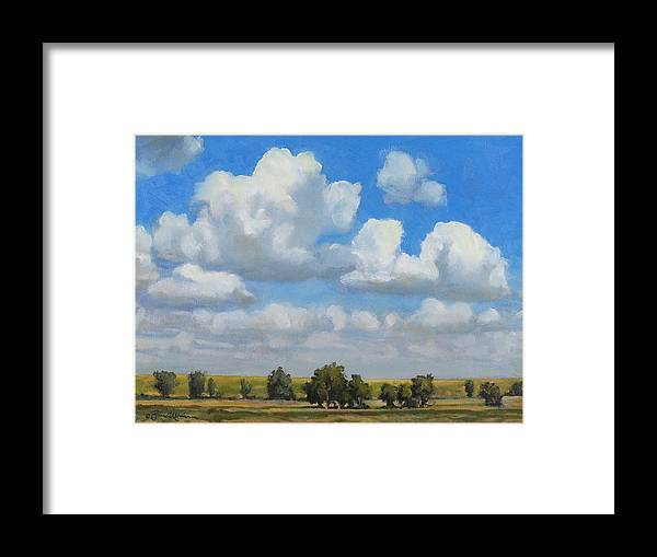Landscape Framed Print featuring the painting Summer Pasture by Bruce Morrison