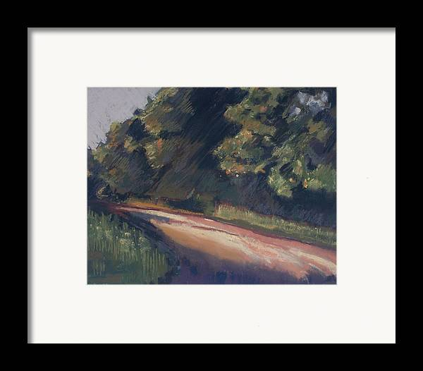 Dirt Roads Framed Print featuring the pastel Summer Roads by Grace Keown