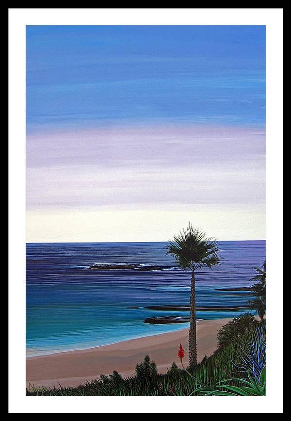Malibu Beach Framed Print featuring the painting Summer Samba by Hunter Jay